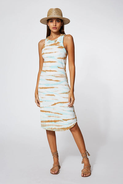 Young Fabulous & Broke Robbie Tank Dress Style Number 3741RB in Robin Cayman Wash on shopbfree.com