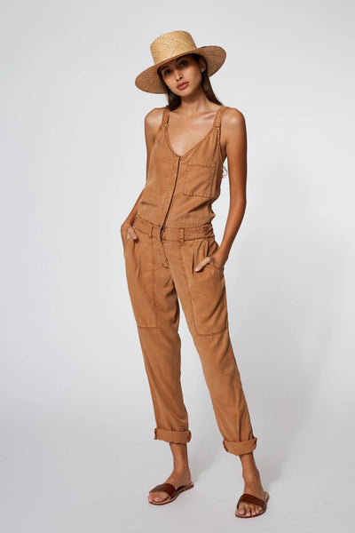 Young Fabulous & Broke Trixie Jumpsuit Style 3735TT in Tobacco On Shopbfree.com