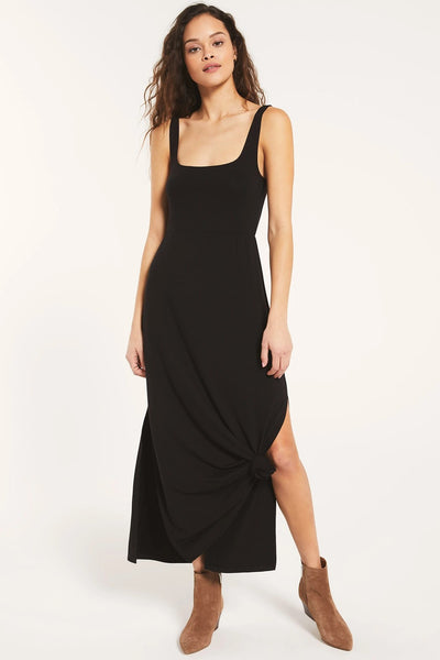Z Supply Clothing Ashton Sleek Dress Style Number ZD203546 Blk on shopbfree.com