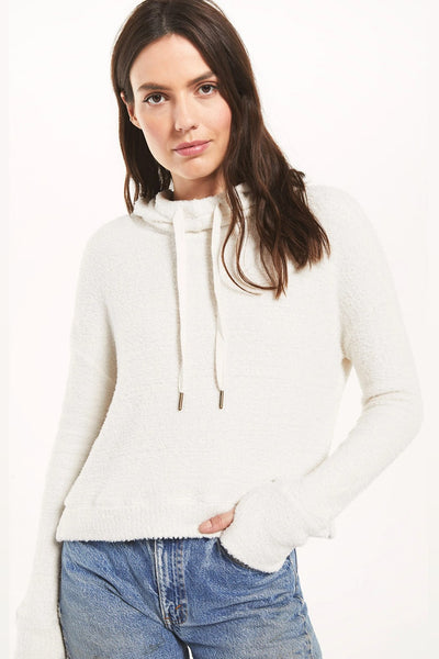 Z Supply Clothing Kacey Feather Hoodie in Bone Style Number ZT203569 BNE on shopbfree.com, Women's Hoodie, BfreeBabe, MyBfreeStyle, Bfree_Boutique