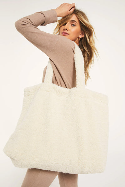 Z Supply Clothing Overnight Sherpa Bag in Bone Style Number ZA203695 BNE on shopbfree.com