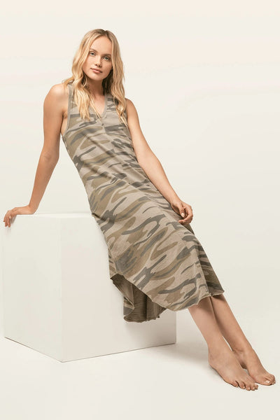 Z Supply Clothing Camo Reverie Dress in Camo Light Sage Style Number ZD201557 LSC on shopbfree.com, BfreeBabe, MyBfreeStyle, Bfree_boutique, Shopbfree, Women's dress, Fall Dress