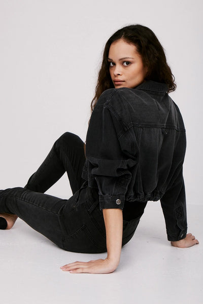 Pistola Denim Allison Elastic Waistband Jacket in ASHBURY Style Number P5868MBF-ASY on Shopbfree.com