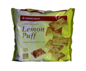 Lemon Puff Biscuits KHONG GUAN 1pkt x 260g (12mini packs) 柠檬味饼干