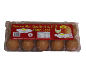 High Quality Fresh Egg 1Tray x 10Pcs 特选鲜蛋 (DASOON)