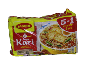 Maggi Noodles (Curry Flav.) 1Pkt X 5+1pcs x 79g 美极面(咖哩)