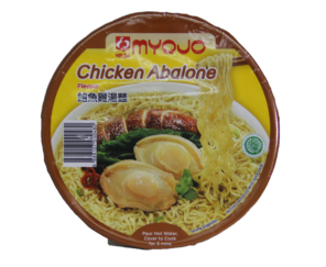 MYOJO'S Chicken Abalone Bowl Noodles 80G