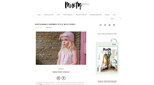 Minty Mag's chat with designer & founder of Peggy, Simone.