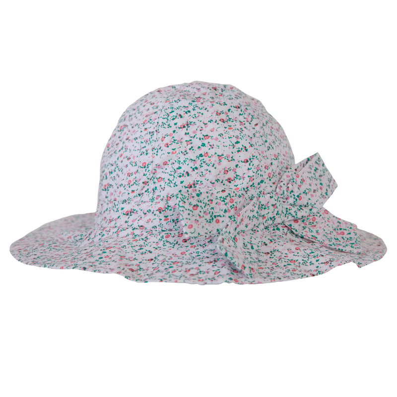 Melissa hat in Mini Pink Floral