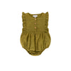 August Playsuit Khaki Cotton/linen