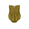 August Playsuit Khaki Cotton/linen - Essential collection