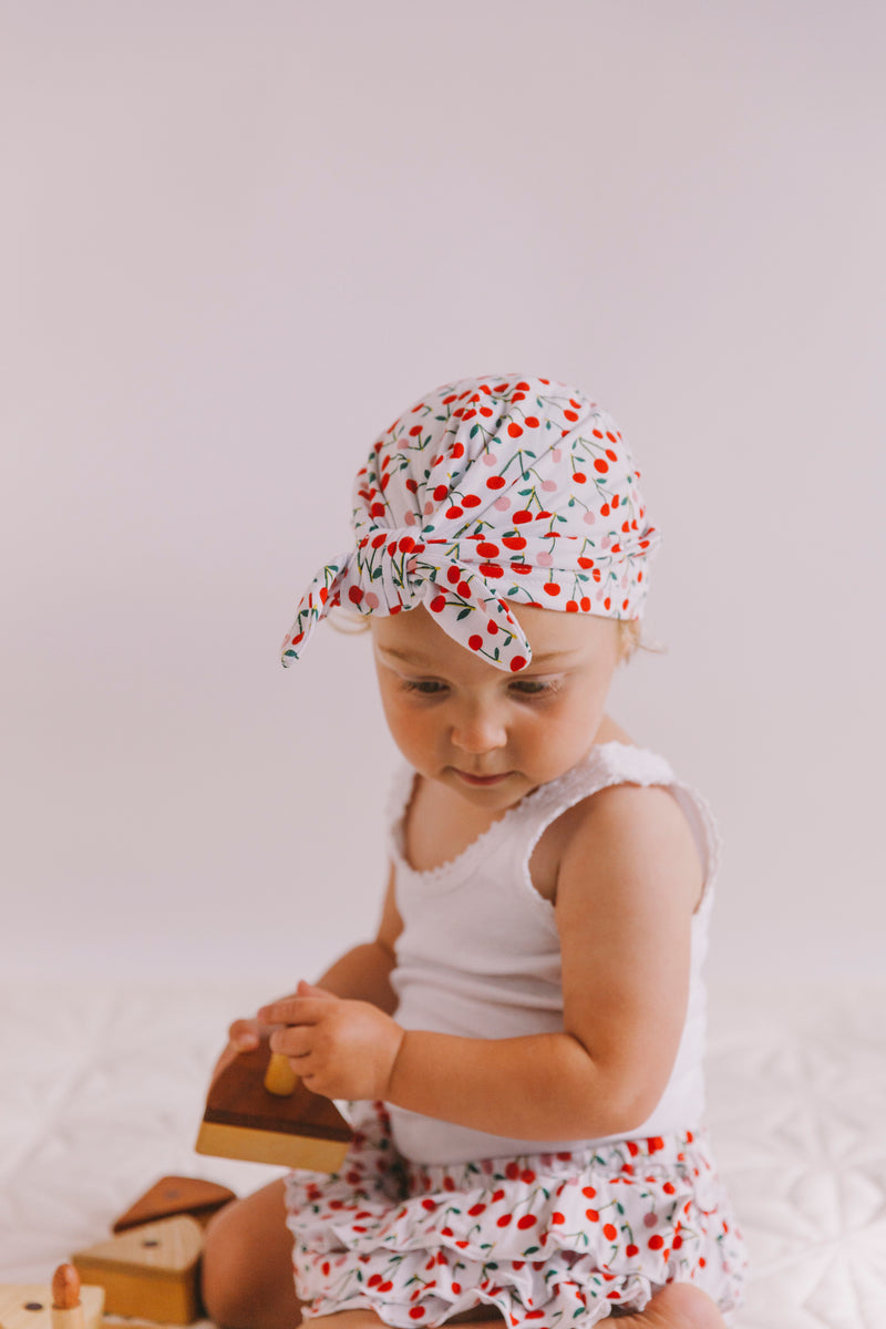 Vincy Turban Cotton Cherry