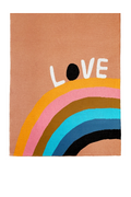 Castle and Things Love Rainbow Baby Throw