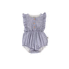 August Playsuit Blue/White pinstripe