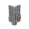 August Playsuit Black and White Check