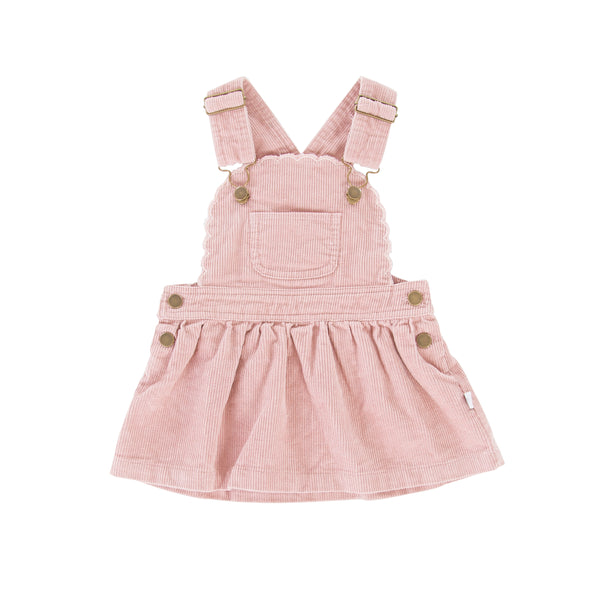 Cleo pinafore Soft Pink Cord