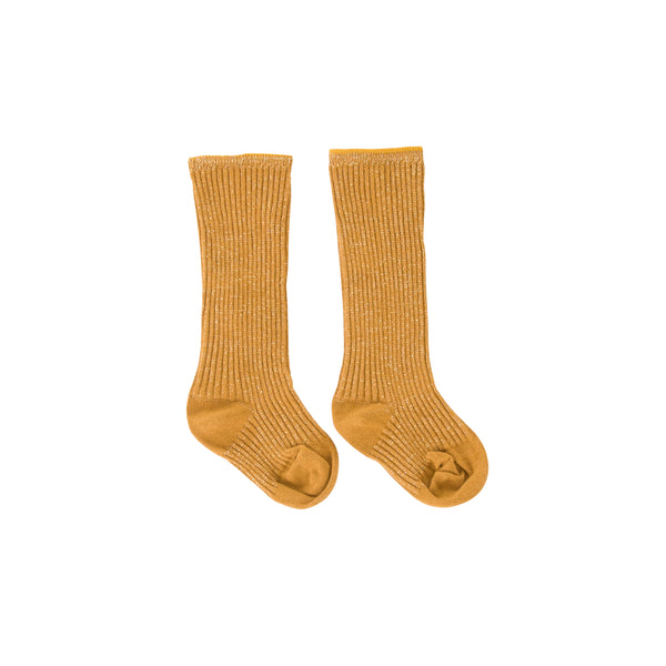 Sparkle socks Mustard Metallic