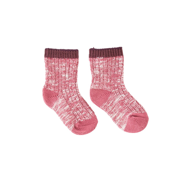 Speckle Socks Burgandy Marle
