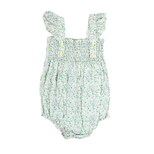 EDIE PLAYSUIT IN MINI GREEN FLORAL