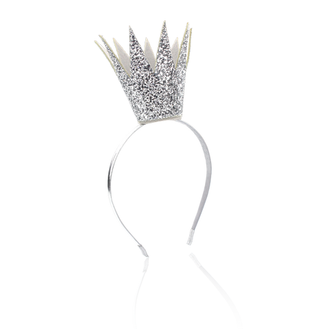Milk and Soda King of Queens Headband in Silver