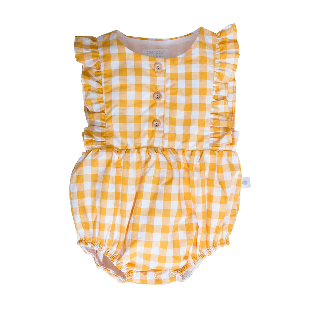 August Playsuit In Mustard check