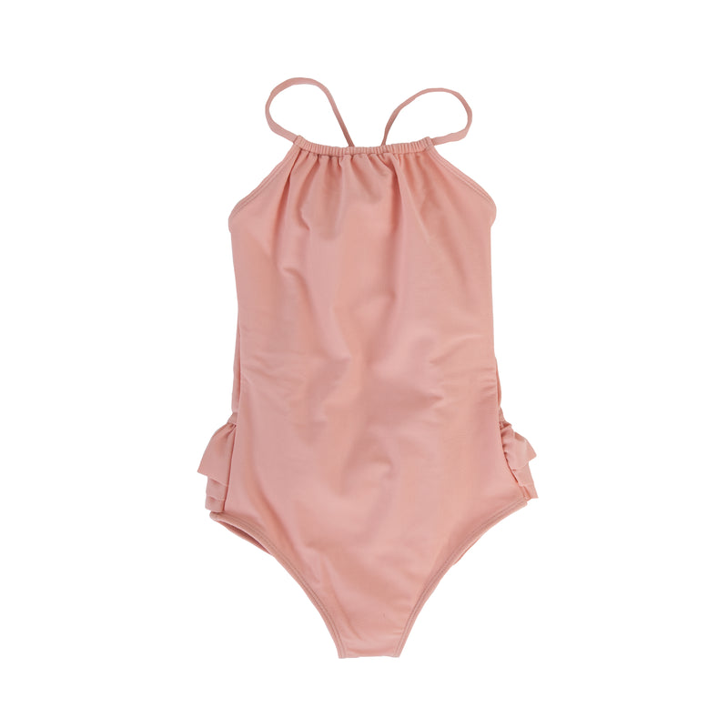Audrey Frill Swimsuit In Blush pink
