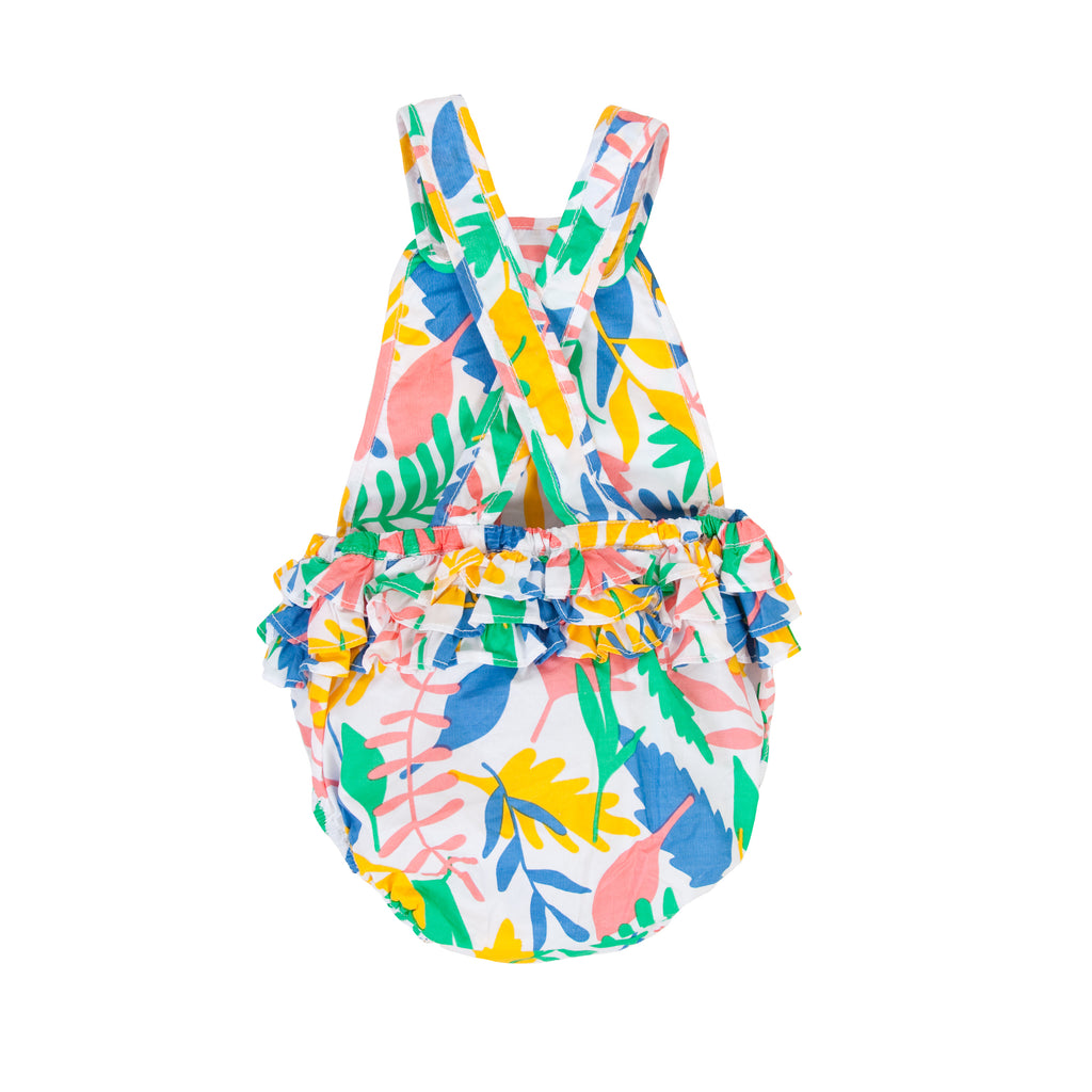 Jane Playsuit In Floral abstract