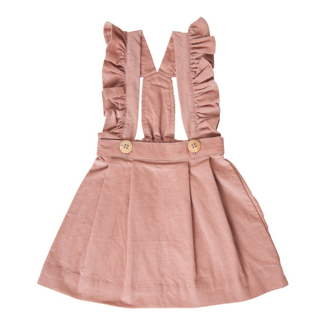 ASTRID PINAFORE IN PINK CORDUROY