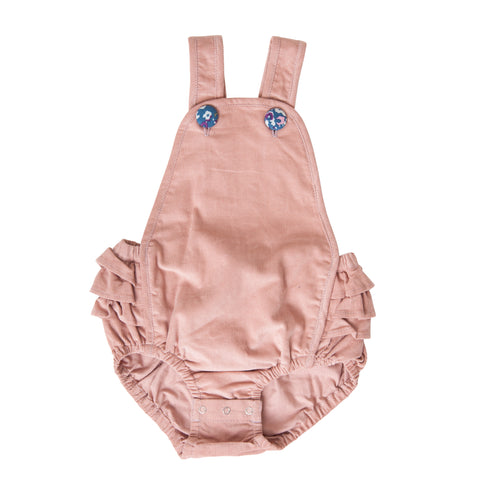 JANE PLAYSUIT IN PINK CORDUROY