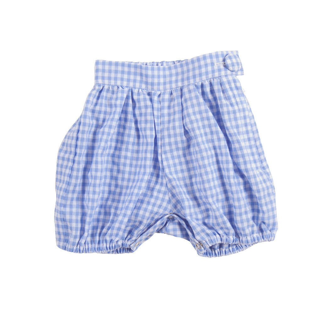 AMELIA SHORTS IN BLUE GINGHAM