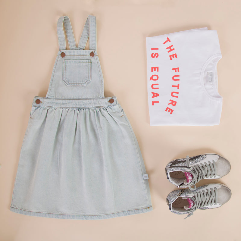 Holly Pinafore Washed Denim