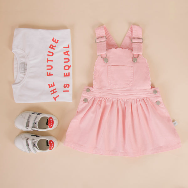 Cleo Pinafore Pink