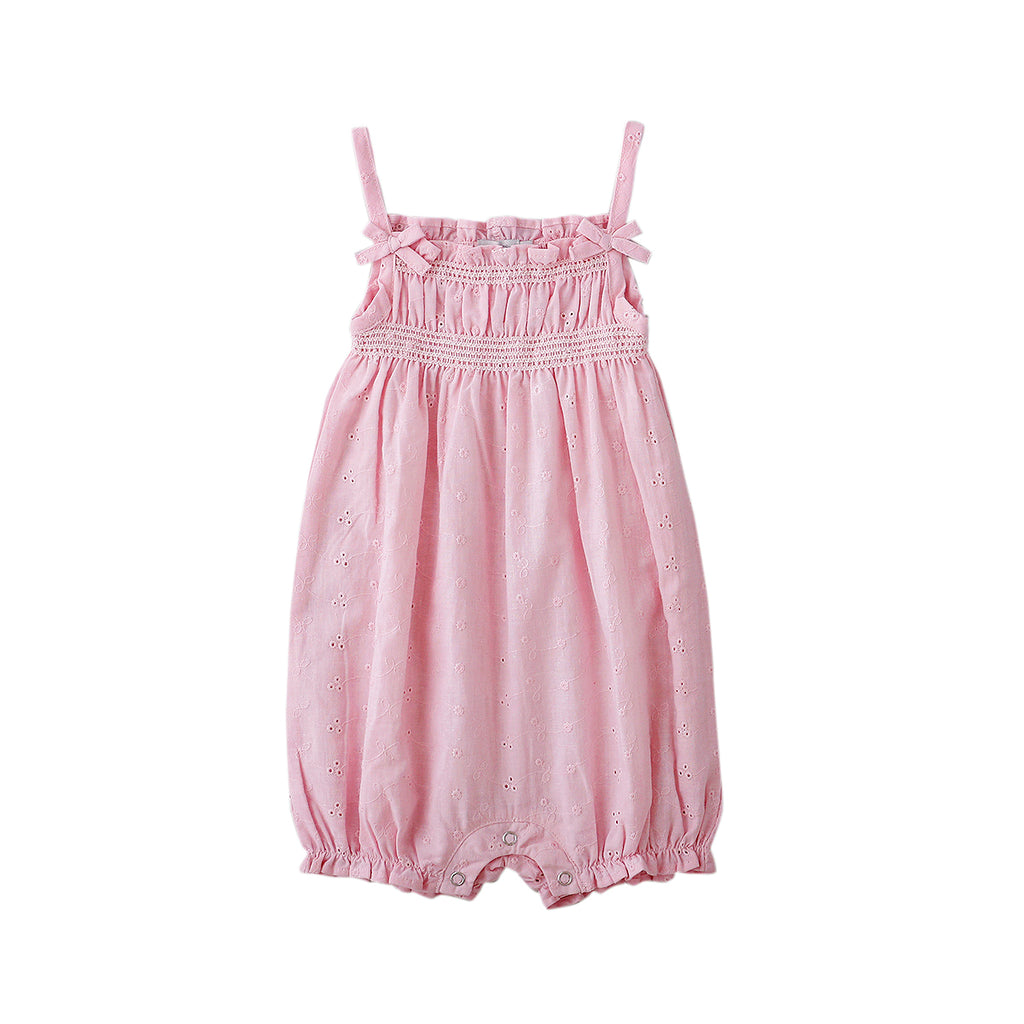 SNOW PLAYSUIT IN PINK BROIDERE