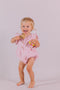 August Playsuit Primrose Pink Cotton/linen - Essential collection