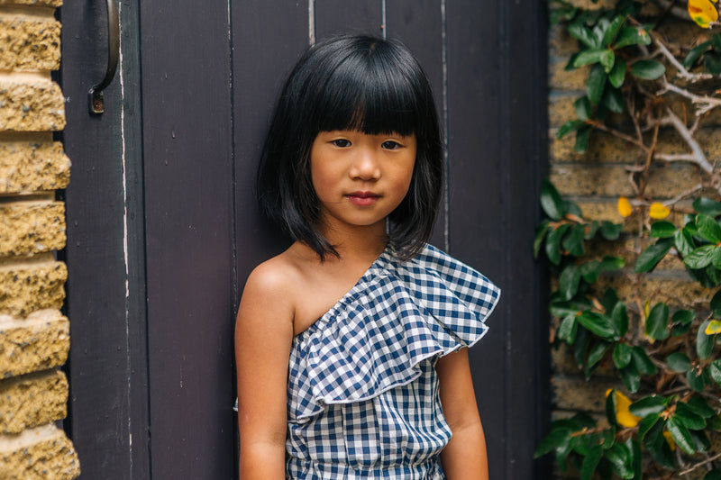 Lucie  Navy Blue Gingham
