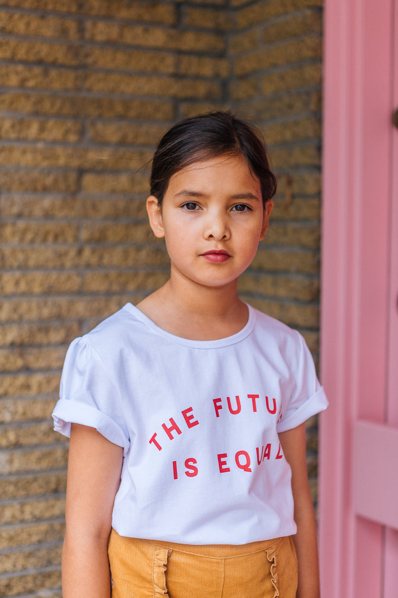The Future Is Equal Tee White With Red Print