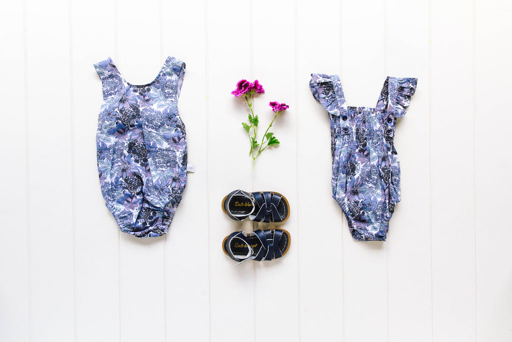 Edie Playsuit In Blue Floral