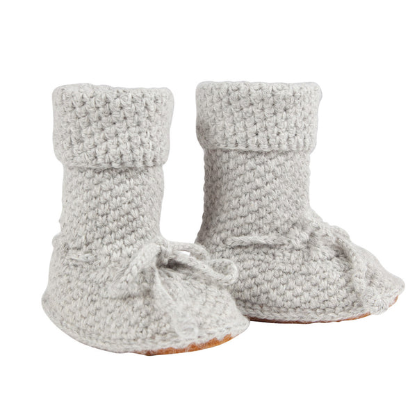 Eskimo Boots in Cloud Grey - 100% Alpaca Wool