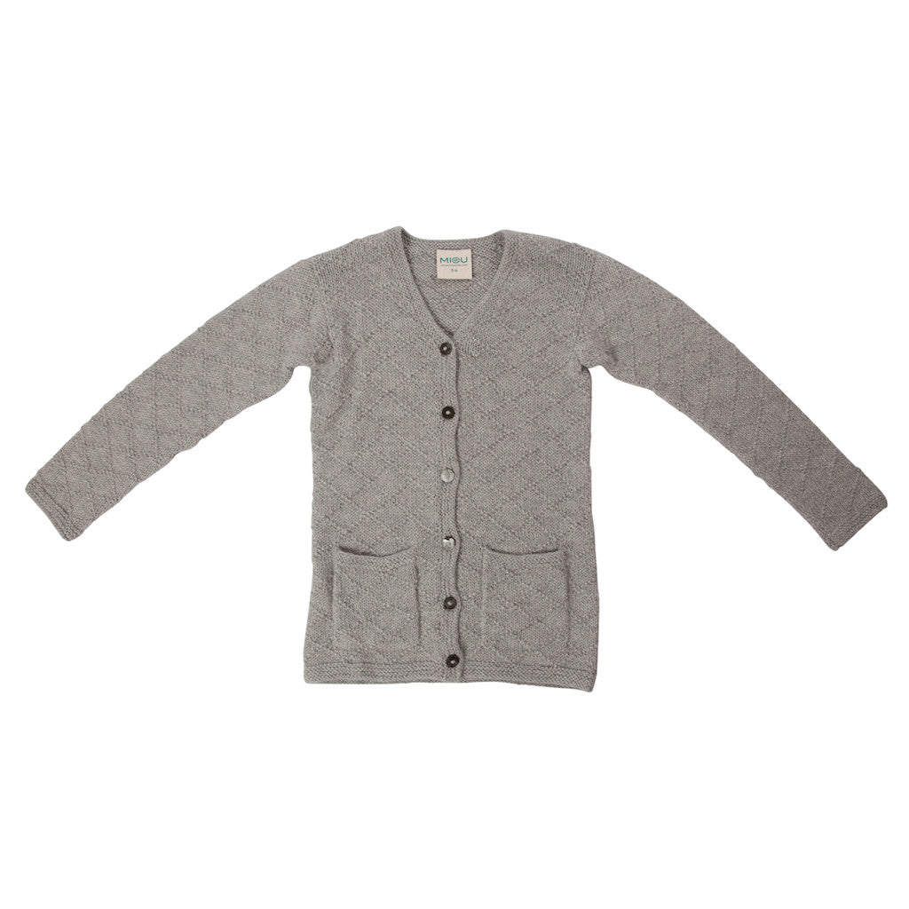 Maxime Cardigan in Cloud Grey - 100% Alpaca Wool