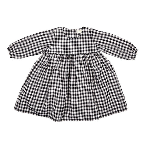 JESS DRESS IN BLACK AND WHITE CHECK