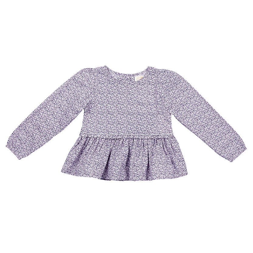 CHLOE TOP IN DITZY LILAC