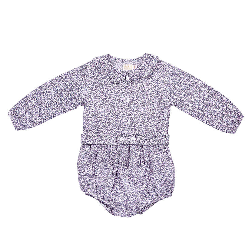 OLIVIA PLAYSUIT IN DITZY LILAC