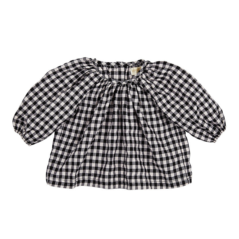 ZALI TOP IN BLACK AND WHITE CHECK