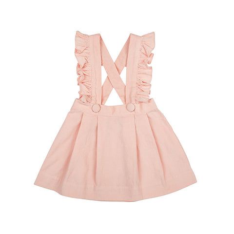 ANNIE PINAFORE IN PINK CORDUROY