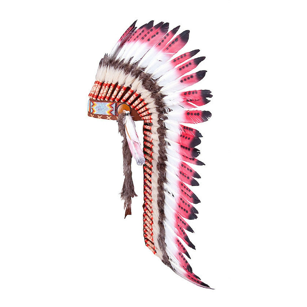 Indian Headdress - Full - Red