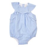 BELLA PLAYSUIT IN BLUE GINGHAM