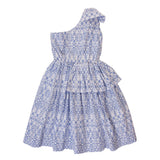 PIPER DRESS IN BLUE CROSS STITCH