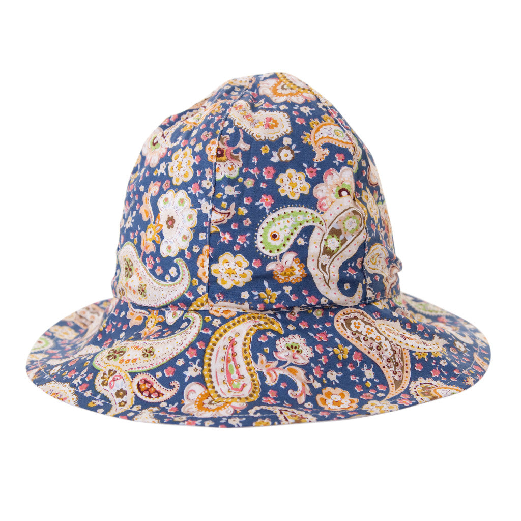 MIKA HAT IN BLUE PAISLEY