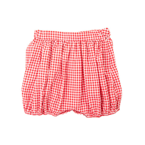 AMELIE SHORTS IN RED GINGHAM