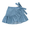 Amelie Wrap Skirt In Chambray